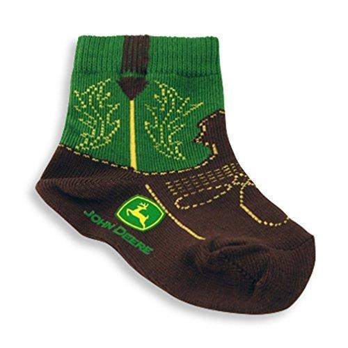 John Deere Infant/Toddler Western Boot Socks 12-24 Months,12-24 Months,Green ()