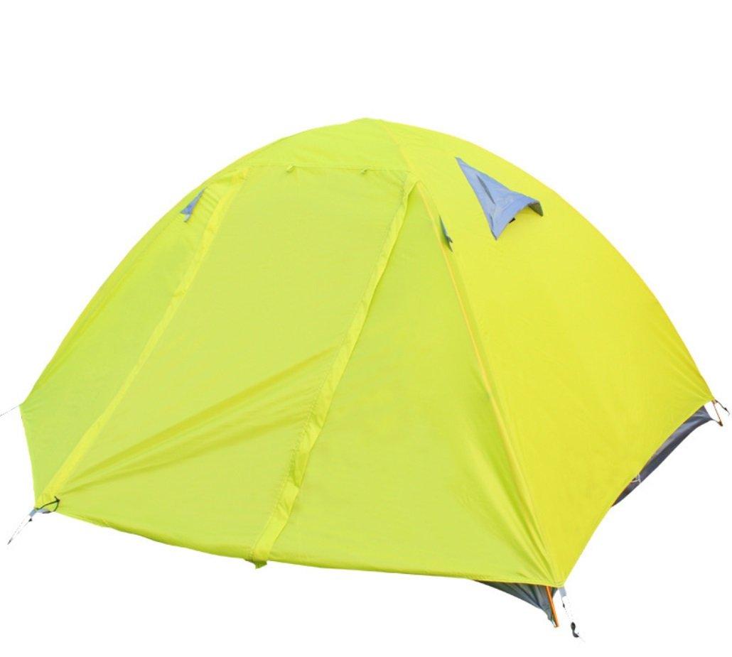 Doppel Zelt Outdoor Camping Doppel Aluminium Rod Zelt Wind und Regen UV Camping Zelt ZXCV