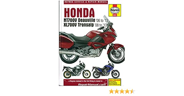 h5541 honda nt700v deauville & xl700 transalp repair manual: manufacturer:  amazon com: books