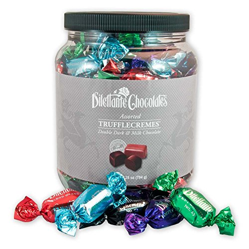 Assorted Chocolate TruffleCremes in Dark&Milk Chocolate – 28oz Jar