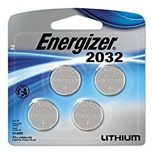 Energizer Watch/Electronic/Specialty Battery, CR2032, 3v, 4/Pack