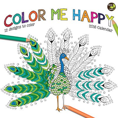 Color Me Happy Wall Calendar by TF Publishing