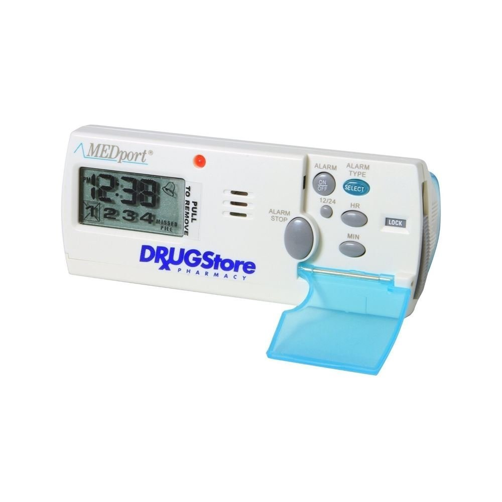 MEDport MEDglider System 1 With Talking Timer Alarm Pill Box Daily Reminder Medication Manager by MEDport