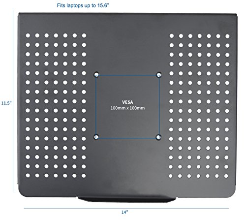 VIVO Laptop Notebook Steel Tray Platform (Tray Only) for VESA Mount Stand | Fits 100 mm Plate Holes (STAND-LAP2) by VIVO (Image #1)