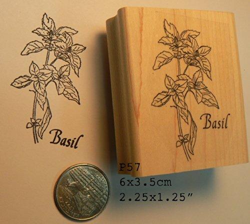 Basil herb rubber stamp P57 (Stamp Basil)