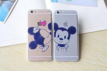 Trendy Connect Coque Flexible Dessin Animé Mickey Minnie Kiss Compatible Avec Iphone 5 5s Se Pack Garçon Fille