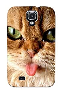 Ideal Letteredor Case Cover For Galaxy S4(funny Cat ), Protective Stylish Case by icecream design