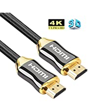 4K HDMI Cable, HDMI Cable 5M High Speed Ultra HD 4K 2160p Pro Series with Nylon Crystal Net Zinc Alloy Hood Gold Plated Connector Compatible with PS4|Xbox 360|Mac|HDTV| Projector|TV Box (5m)