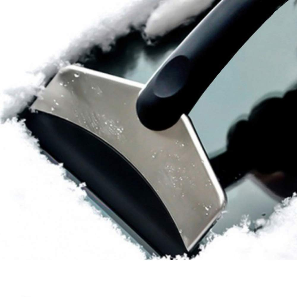 IronBuddy Telescopic Snow Brush Ice Scraper Extendable Snow Remover Shovel for Car 1 Pcs from 17 to 24 Retractable Car Windshield Snow Brush and Scraper