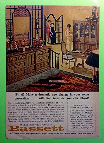 Original 1960s Ad Bassett Corte Mediterranean Furniture (Bassett Furnitures)