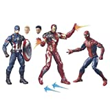 CAPTAIN AMERICA Legends Action Figure, 3-Pack, 6-Inch