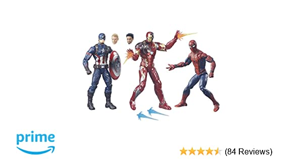 Amazon Marvel Legends Captain America Civil War 6 Inch Figure 3 Pack Toys Games