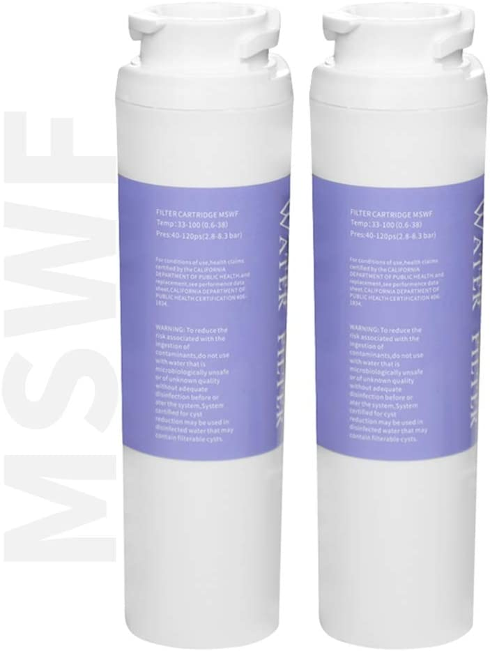 PONNIC MSWF Refrigerator Water Filter for GE MSWF Replacement Cartridge 2 Pack