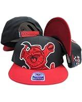 Denver Nuggets Black Out Two Tone Snapback Adjustable Plastic Snap Back Hat/Cap