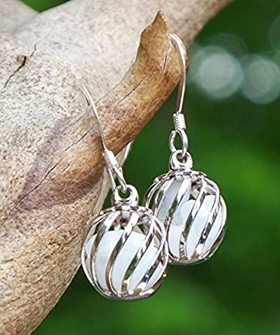 Recycled Vintage Pond's Cold Cream Jar Cage Earrings (Ponds Hand Cream)