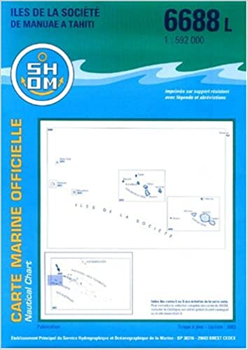carte marine ile societe de manuae a tahiti