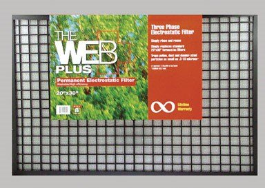 """Web Electrostatic Furnace Filter 20 """" X 30 """" X 1 """" Polyester"""