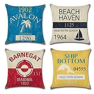 51R5Tsxf-rL._SS300_ 100+ Nautical Pillows & Nautical Pillow Covers