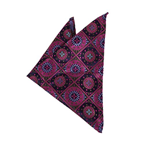 Dan Smith DEE7B12A Purple Best Mens Fashion Patterned Microfiber Hanky Relationships Accessories Excellent Gifts Giving Set (2 Drawer Youth)