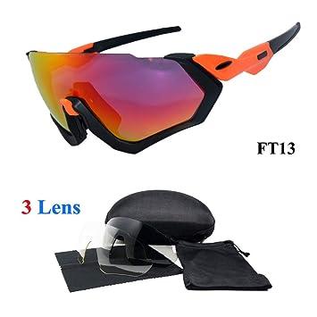 Amazon.com: Gafas de sol deportivas de 3 lentes para ...