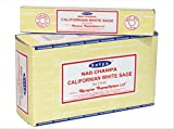 Chi-City Mall Satya Nag Champa Californian White Sage Incense Sticks | Signature Fragrance | Net Wt: 15g x 12 boxes = 180g | Exclusively Made in India | Export Quality | Handrolled Non-Toxic Incense