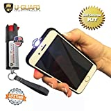 Taser Phone Keychain Pepper Spray Self Defense Products Kit. Disguised Stun Gun Smartphone Replica with Built-in Alert Alarm LED Flashlight. Police Grade Pepper Spray Weapons for Men Or Women