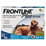 Frontline Plus Flea and Tick Treatment for Dogs 8 Month Supply (23-44 LB)