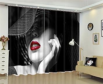 Wapel fenêtre dame sexy 3dinterdiction pour rideaux bed room living