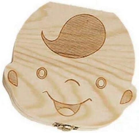 Creative b/éb/é dents bo/îte /économiseur bo/îte de rangement des enfants en bois titulaire de dents organiser bo/îte souvenir de dents de lait pour filles gar/çons-bois-1 taille