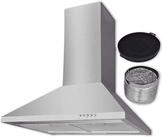 vidaXL Campana extractora Acero Inoxidable 600 mm: Amazon.es: Grandes electrodomésticos