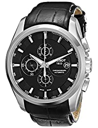 Tissot Men's T0356271605100 T-Trend Couturier Stainless Steel Watch with Black Leather Band