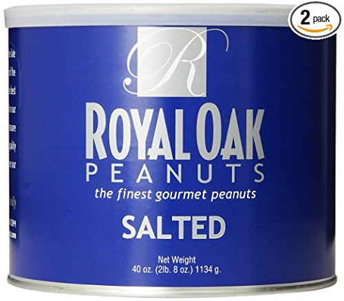 Royal Oak Gourmet Virginia Salted Peanuts, 40-Ounce Tins (Pack of 2)