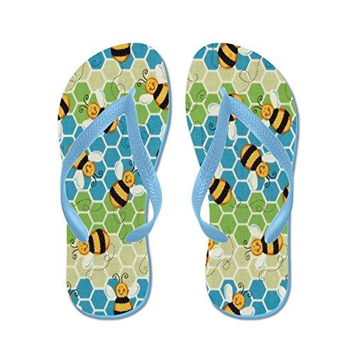 Cafepress Honey Bee - Infradito, Divertenti Sandali Infradito, Sandali Da Spiaggia Blu Caraibico
