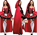 Fanala Little Red Riding Hood Costume Fancy for Women Halloween Cosplay Dress