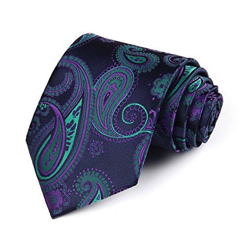 HISDERN Paisley Tie Handkerchief