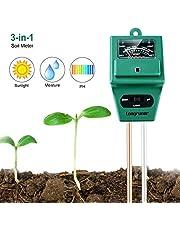 Indoor/Outdoor Soil Moisture Sensor Meter,Soil Water Monitor, Hydrometer for Garden, Farm, Lawn Plants (Soil Moisture/pH/Light Tester)