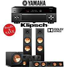 Klipsch RP-280FA 5.1-Ch Reference Premiere Dolby Atmos Home Theater System with Yamaha AVENTAGE RX-A2070BL 9.2-Channel Network AV Receiver