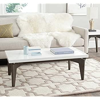 Amazon Com Rectangular Two Tone Distressed Coffee Table With