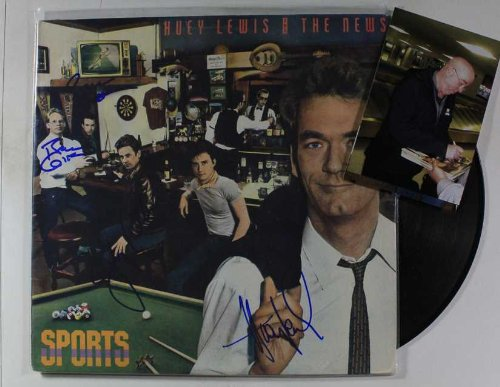 Huey Lewis & The News Group Autographed
