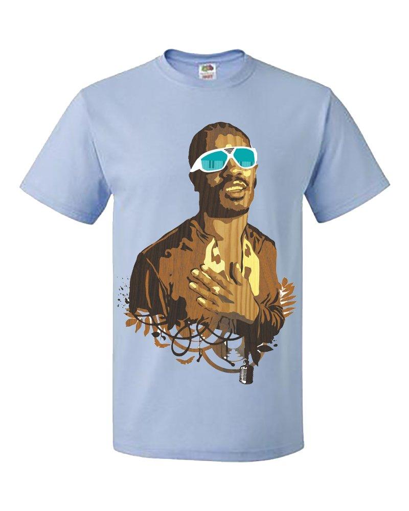 Palalula Hombre Music Stevie Wonder Face Tribute Camiseta KChjt8Z1