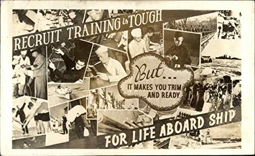 Recruit Training is Tough But...It Makes You Trim & Ready for Life Aboard Ship Original Vintage (Trim Ships)
