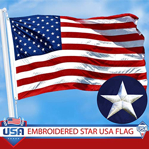 G128 - American Flag 3x5 Ft Embroidered Stars Sewn Stripes B