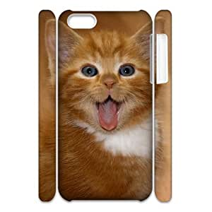 Nuktoe Iphone 5C Case 3D Cat Face Funny NK296915