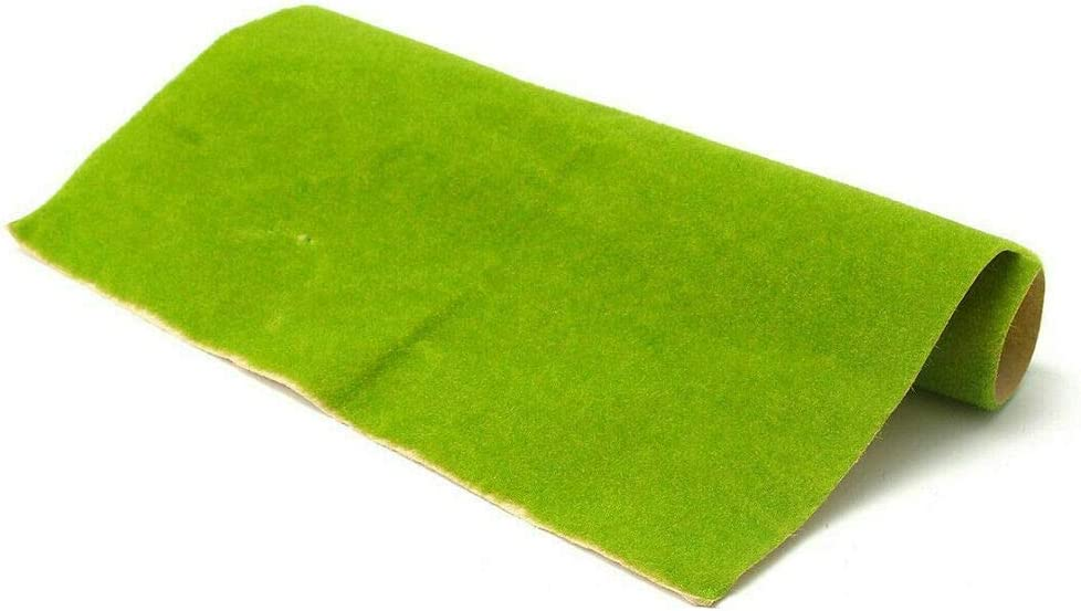 premium91shop Artificial Grass Lawn Turf Mat Dollhouse Miniature Garden Landscaping Ornament W A: 25 x 25 cm, Dark Green