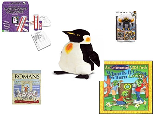 [Children's Fun & Educational Gift Bundle - Ages 6-12 [5 Piece] - Includes: Game - Toy - Plush - Hardcover Book - Paperback Book - No.] (Things That Start With The Letter B)