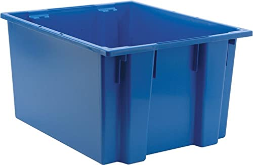 Quantum Storage Systems Quantum SNT230BL 23-1 2-Inch by 19-1 2-Inch by 13-Inch Stack and Nest Tote, Blue, 3-Pack, 3