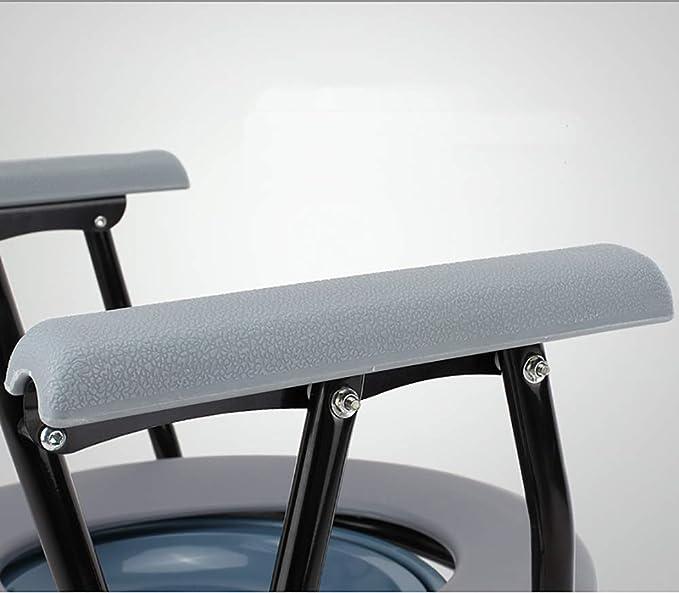 Amazon.com: Asiento de inodoro portátil plegable Commode ...
