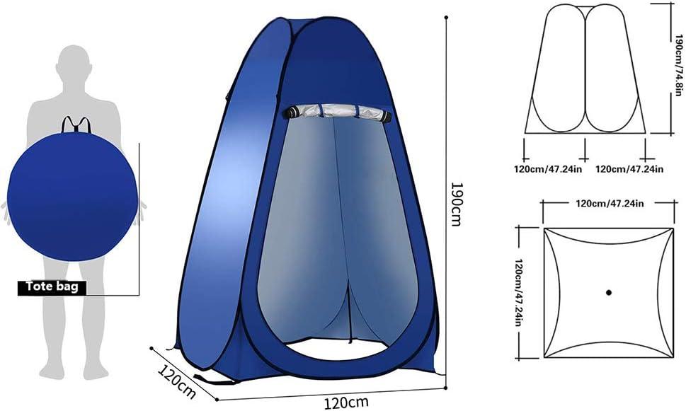 Pop Up Veranderende Tent Toilettent, Buitendouchecabine, Camping Douchetent Mobiele Buiten Privacy Toilet Tent Opslagtent, Draagbaar, Werptenten, Kampeertenten Blue