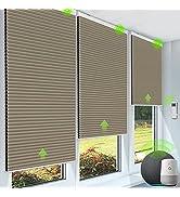 Yoolax Smart Motorized Cellular Shade Works with Alexa, Blackout Automatic Honeycomb Window Blind...