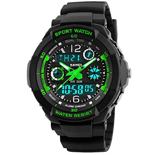 Viliysun Child Watch Multi Function Digital LED Sport Waterproof Electronic Quartz Watches for Boy Girls Kids Gift (Boys Sports)